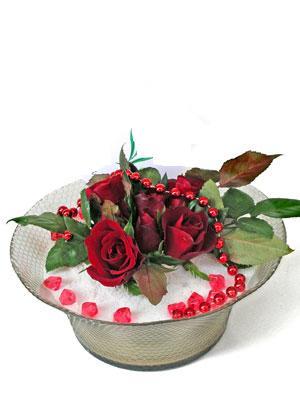 Kırşehir çiçekçiler  EN ÇOK Sevenlere 7 adet kirmizi gül mika yada cam tanzim