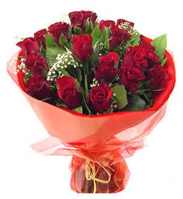 Kırşehir uluslararası çiçek gönderme  11 adet kimizi gülün ihtisami buket modeli