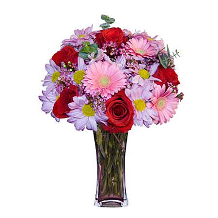 Görsel hediye karisik cam mevsim demeti  Kırşehir ucuz çiçek gönder