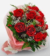 12 adet kırmızı güllerden kaliteli gül  Kırşehir çiçekçiler