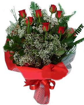 7 kırmızı gül buketi  Kırşehir hediye sevgilime hediye çiçek