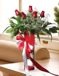 Camda 5 kırmızı gül tanzimi  Kırşehir çiçek yolla