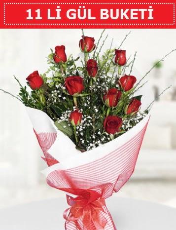 11 adet kırmızı gül buketi Aşk budur  Kırşehir çiçek yolla , çiçek gönder , çiçekçi