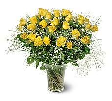 Kırşehir hediye çiçek yolla  15 adet sarigül mika yada cam vazoda
