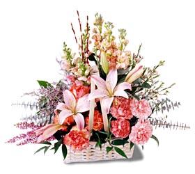 Kırşehir hediye çiçek yolla  mevsim çiçekleri sepeti özel tanzim