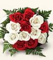 Kırşehir çiçekçi telefonları  10 adet kirmizi beyaz güller - anneler günü için ideal seçimdir -