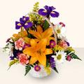 Kırşehir cicekciler , cicek siparisi  sepet içinde karisik çiçekler