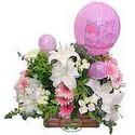 balon ve çiçeklerle tanzim  Kırşehir çiçekçi mağazası
