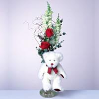 2 adet gül ve panda özel  Kırşehir ucuz çiçek gönder