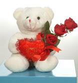 3 adetgül ve oyuncak   Kırşehir güvenli kaliteli hızlı çiçek