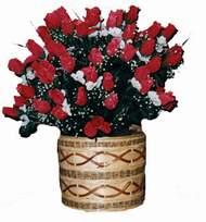 yapay kirmizi güller sepeti   Kırşehir çiçek servisi , çiçekçi adresleri
