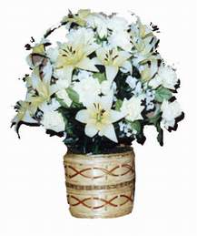 yapay karisik çiçek sepeti   Kırşehir çiçek online çiçek siparişi