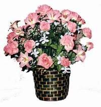 yapay karisik çiçek sepeti  Kırşehir anneler günü çiçek yolla