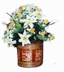 yapay karisik çiçek sepeti   Kırşehir online çiçek gönderme sipariş