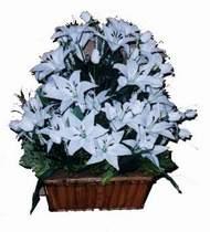 yapay karisik çiçek sepeti   Kırşehir internetten çiçek siparişi
