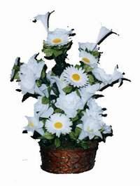 yapay karisik çiçek sepeti  Kırşehir çiçekçiler