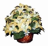 yapay karisik çiçek sepeti   Kırşehir hediye çiçek yolla