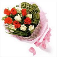 5 kirmizi 5 beyaz güllerden   Kırşehir internetten çiçek siparişi