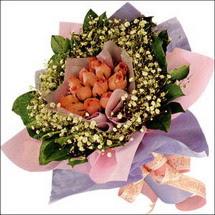 11  adet  gül ve   elyaflar   Kırşehir ucuz çiçek gönder