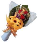 güller ve gerbera çiçekleri   Kırşehir çiçek yolla , çiçek gönder , çiçekçi