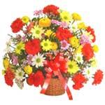 karisik renkli çiçek sepet   Kırşehir çiçek yolla , çiçek gönder , çiçekçi