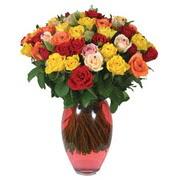 51 adet gül ve kaliteli vazo   Kırşehir çiçek yolla , çiçek gönder , çiçekçi
