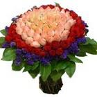 71 adet renkli gül buketi   Kırşehir çiçek satışı