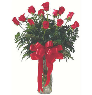 12 adet gül cam içerisinde  Kırşehir online çiçek gönderme sipariş