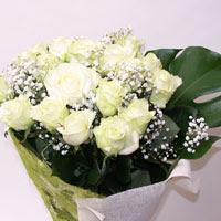 Kırşehir çiçek , çiçekçi , çiçekçilik  11 adet sade beyaz gül buketi