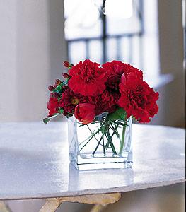 Kırşehir çiçek satışı  kirmizinin sihri cam içinde görsel sade çiçekler