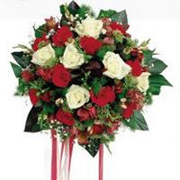 Kırşehir çiçek satışı  6 adet kirmizi 6 adet beyaz ve kir çiçekleri buket