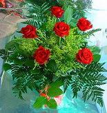 6 adet kirmizi gül buketi   Kırşehir internetten çiçek siparişi