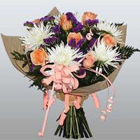 güller ve kir çiçekleri demeti   Kırşehir çiçek siparişi sitesi