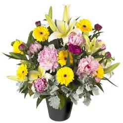 karisik mevsim çiçeklerinden vazo tanzimi  Kırşehir cicek , cicekci
