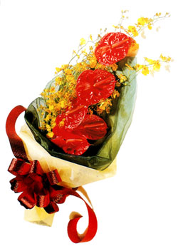 özel 5 adet antorium buketi   Kırşehir çiçek yolla , çiçek gönder , çiçekçi