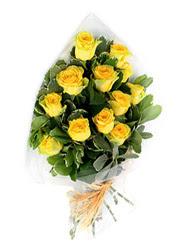 Kırşehir çiçek mağazası , çiçekçi adresleri  12 li sari gül buketi.