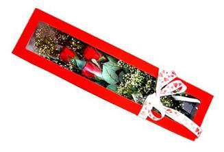 Kırşehir çiçek , çiçekçi , çiçekçilik  Kutuda 3 adet gül