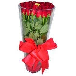 Kırşehir anneler günü çiçek yolla  12 adet kirmizi gül cam yada mika vazo tanzim