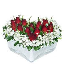 Kırşehir internetten çiçek satışı  mika kalp içerisinde 9 adet kirmizi gül