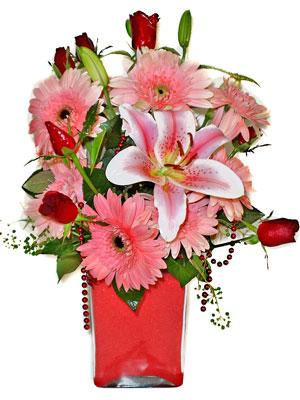 Kırşehir çiçek siparişi vermek  karisik cam yada mika vazoda mevsim çiçekleri mevsim demeti