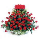 Kırşehir çiçek servisi , çiçekçi adresleri  41 adet kirmizi gülden sepet tanzimi