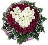 Kırşehir çiçek online çiçek siparişi  27 adet kirmizi ve beyaz gül sepet içinde