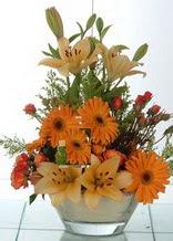 Kırşehir hediye sevgilime hediye çiçek  cam yada mika vazo içinde karisik mevsim çiçekleri