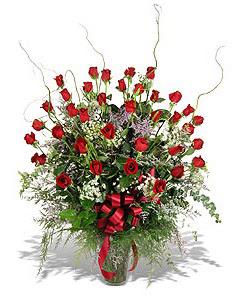 Kırşehir hediye çiçek yolla  33 adet kirmizi gül vazo içerisinde