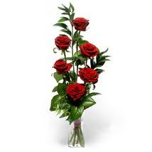 Kırşehir hediye çiçek yolla  cam yada mika vazo içerisinde 6 adet kirmizi gül