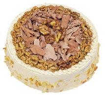 Karamelli 4 ile 6 kisilik yas pasta  Kırşehir İnternetten çiçek siparişi