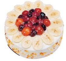Meyvali 4 ile 6 kisilik yas pasta leziz  Kırşehir çiçek satışı