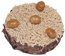 Kestahaneli yas pasta 4 ile 6 kisilik pasta  Kırşehir hediye çiçek yolla