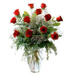 Vazo içerisinde 11 kirmizi gül  Kırşehir çiçekçiler