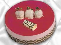 pasta siparisi 4 ile 6 kisilik yas pasta çilekli yaspasta  Kırşehir hediye sevgilime hediye çiçek